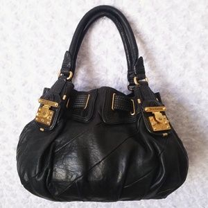 Juicy Couture Black Butter Leather Handbag